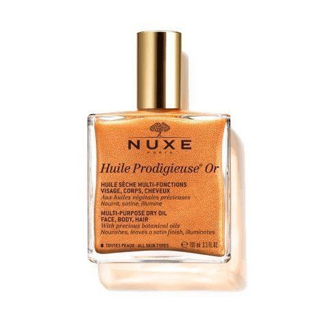 Nuxe Huile prodigieuse or 100ml Huile sèche multi usage, Effet lumière