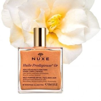 Nuxe Huile prodigieuse or 50ml Huile sèche multi usage, Effet lumière - 50ml