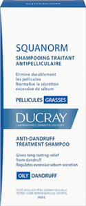 Ducray Squanorm shampoing traitant pellicules grasses 200 ml