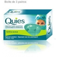 Quies Protection Auditive silicone - 3 Paires