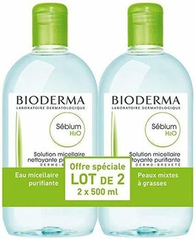 Bioderma Sébium H20 Solution Micellaire 2 X 500 ml