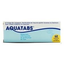 Aquatabs Purification de l'eau, 1 litre 60 comprimes