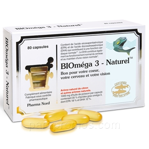 Bioméga 3 naturel 80 capsules pharma nord