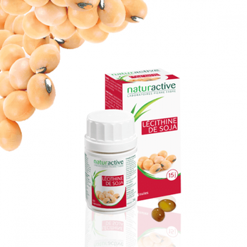 Naturactive Lécithine de Soja 60 capsules