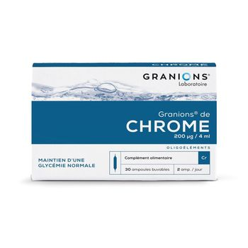 Granions de Chrome 200ug Nouveau Dosage 30 Ampoules