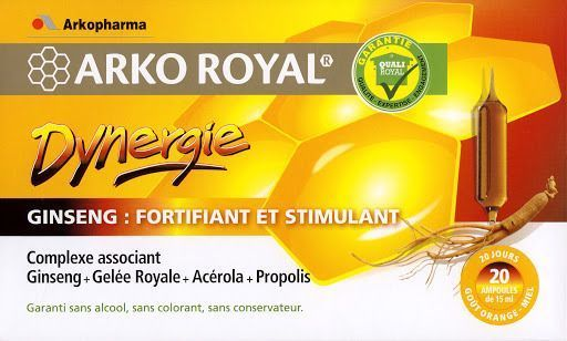 ArkoRoyal, Dynergie: Complexe Stimulant, 20 ampoules
