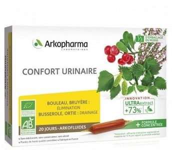 Arkofluides Confort Urinaire Bio 20 ampoules Arkopharma