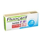 FLUOCARIL - Dentifrice junior 7-12 ans Goût Bubble- Lot de 2*50ml