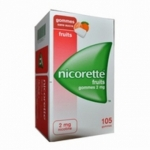Nicorette 105 gommes 2mg fruits