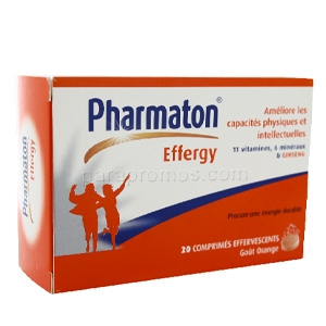 Pharmaton Effergy 20 comprimés effervescents