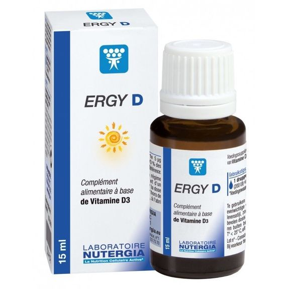 Ergy D à base de vitamine D3 15ml Nutergia