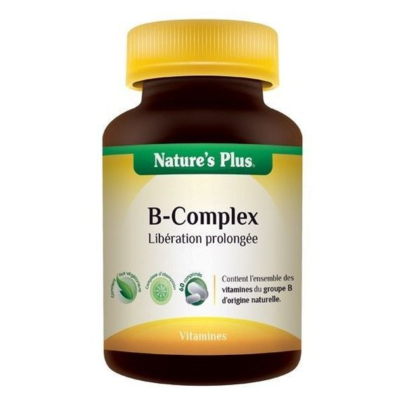 B-complex suractivé - Action prolongé  60 cp Nature's plus