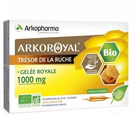 Gelée royale 1000mg 20 ampoules de 10 ml Arkoroyal