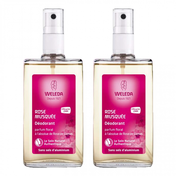 Weleda Déodorant à la Rose lot 2 X 100ml