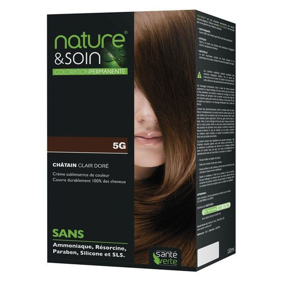 coloration permanente couleur chatain clair dor 5g nature et soin - Coloration Permanente Sans Ammoniaque