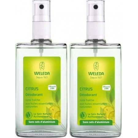 Weleda Déodorant au Citrus. Lot de 2 X 100ml