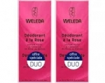 Weleda duo déodorant à la rose 2x100ml