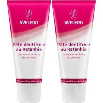 Weleda Pâte Dentifrices Ratanhia - Lot de 2 x 75 ml
