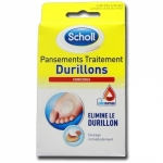 Scholl Pansement Coricides Durillons 4 emplâtres + 4 disques coricides
