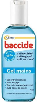 BACCIDE Gel mains  hydroalcoolique 75 ml