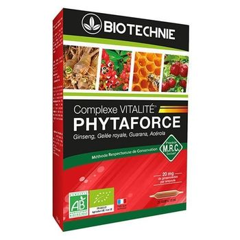 Biotechnie Phytaforce bio 20 ampoules