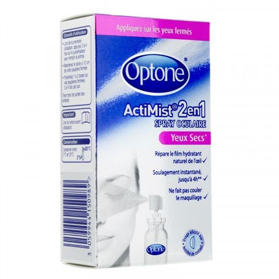 Optone Actimiste spray oculaire yeux fatigués + inconfort 10ml