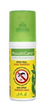 Mousticare Spray Peau - 50ml zones tempérés