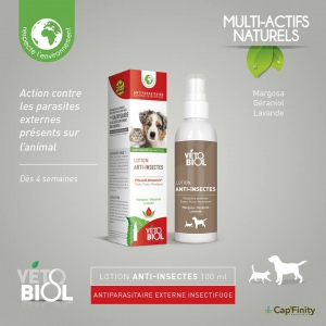 Vétobiol Lotion Anti-insectes - 100 ml