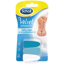 Scholl Velvet Smooth Sublime Ongles Kit de Remplacement 3 Recharges