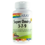 Solaray super Oméga 3-7-9 + Vitamine D3 - 60 gélules