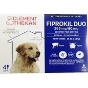 Fiprokil duo  grand chien 20 à 40 kg 4 pipettes