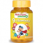 Nat & Form Ours+ 9 vitamines 60 oursons
