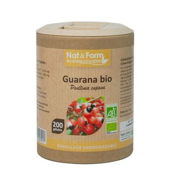 Nat & Form Guarana Bio 200 gélules