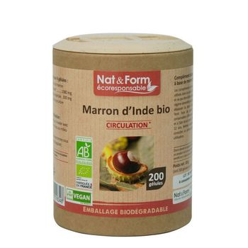 Nat & Form Marron d'Inde Bio 200 gélules