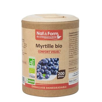 Nat & Form Myrtille Bio 200 gélules