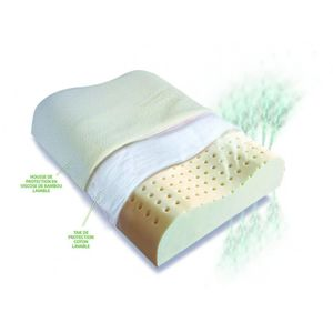 Biorelax Oreiller cervical latex naturel  60x40 cm
