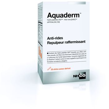 NHCO Aquaderm Anti-rides repulpeur 20 sticks abricot