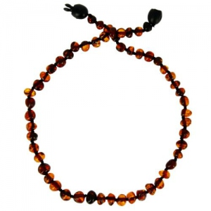 Baltic way Collier ambre cognac  bille - clip