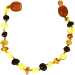 Baltic way bracelet ambre mix 3 couleurs bille clip