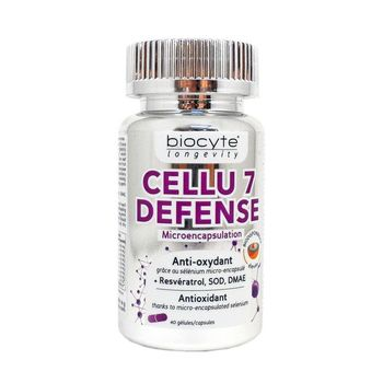 Biocyte longevity Cellu 7 Defense 40 gélules