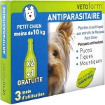 Vetoform Antiparasitaire Pipettes Insectifuges Petit Chien 3 Pipettes