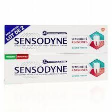 sensodyne traitement sensibilit lot de 2x75ml. Black Bedroom Furniture Sets. Home Design Ideas