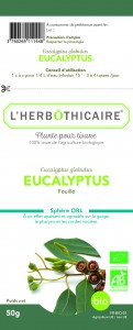 L'herbothicaire Eucalyptus Bio feuille 50g
