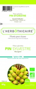 L'herbothicaire Pin sylvestre Bio bourgeon 80g
