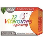 Nutrisante 12 vitamines + ginseng. BT 24 cps à croquer
