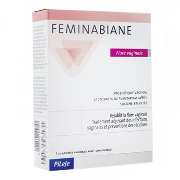 Feminabiane Flore Vaginale 7 comprimés vaginaux + 1 applicateur