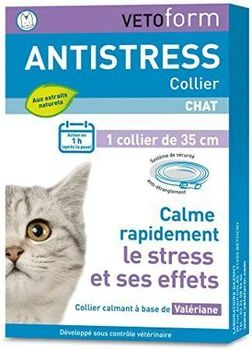Vetoform collier anti stress chat de 35cm