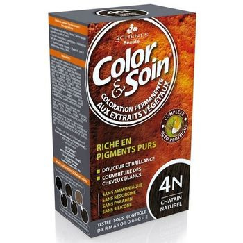 3 Chênes Color & Soin Coloration 4N Chatain naturel  135ml