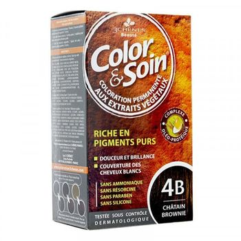 3 Chênes Color & Soin Coloration 4B chatain brownie 135ml