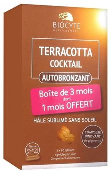 Biocyte Terracotta Cocktail Autobronzant lot de 3X 30 comprimés